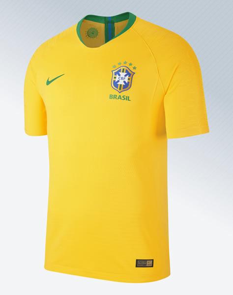 Camiseta titular de Brasil Mundial 2018 | Imagen Nike