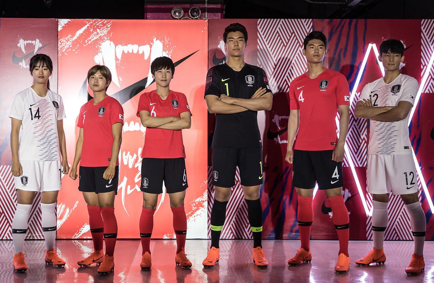 Nuevas camisetas Nike de Corea del Sur Mundial 2018 | Foto Instagram KFA
