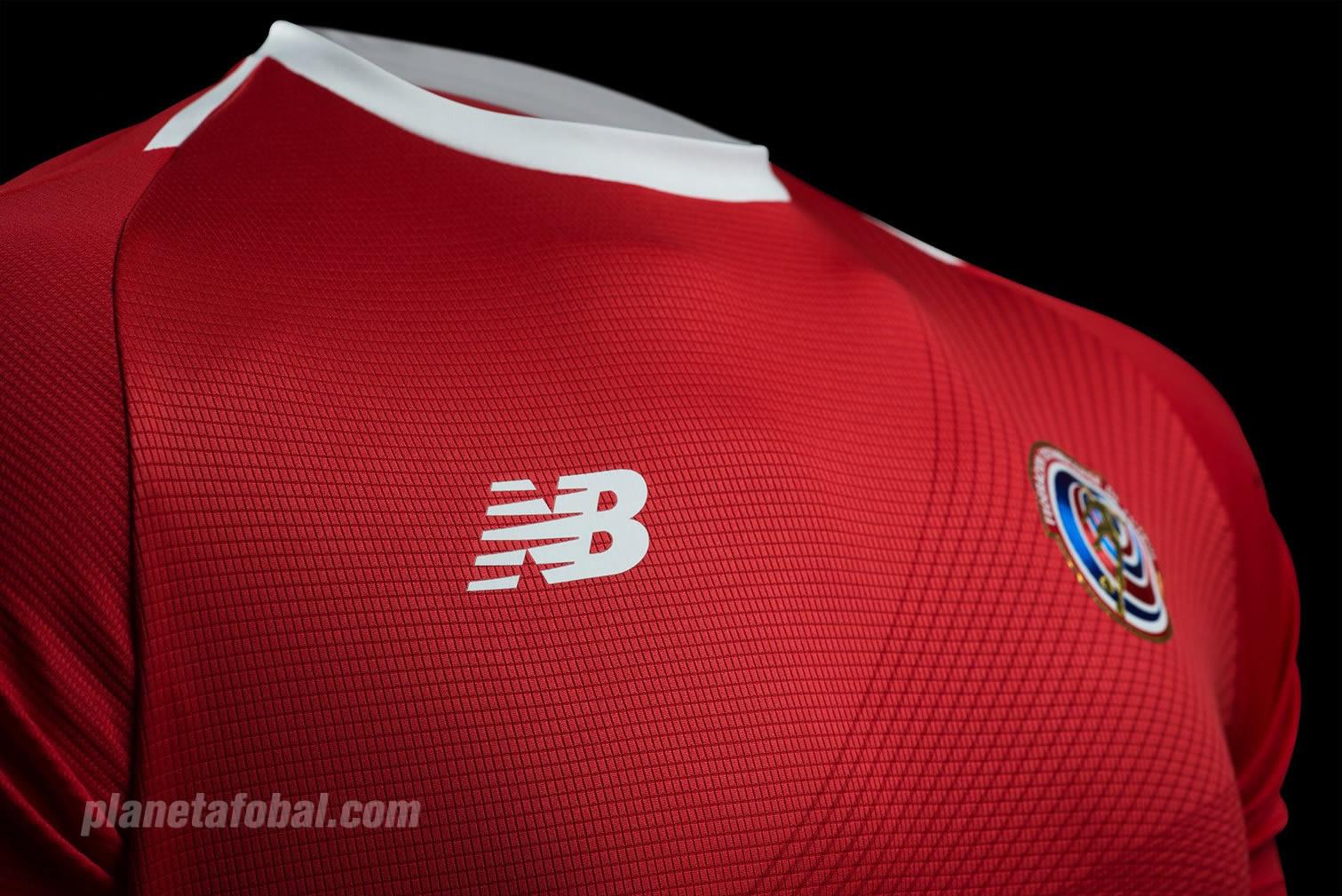 Nueva camiseta de Costa Rica Mundial 2018 | Imagen Fedefutbol