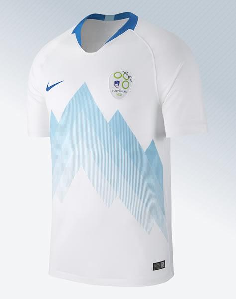 Camiseta titular Nike de Eslovenia 2018-2019 | Imagen NZS