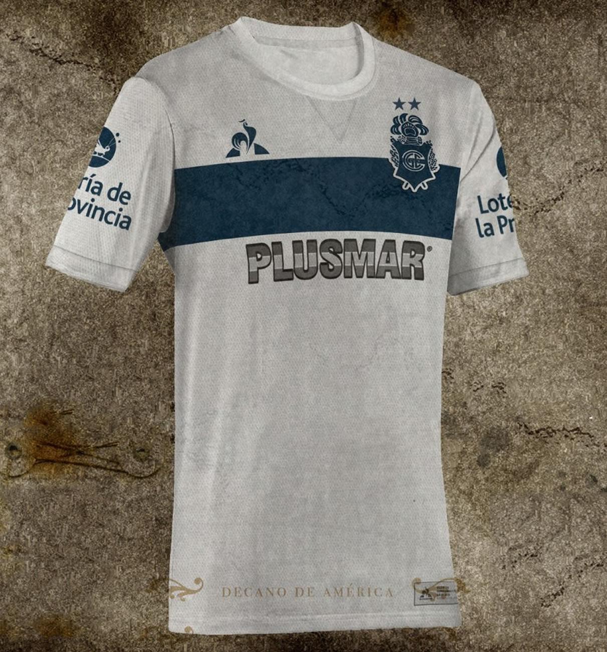 Camiseta histórica de Gimnasia LP | Foto Facebook Oficial