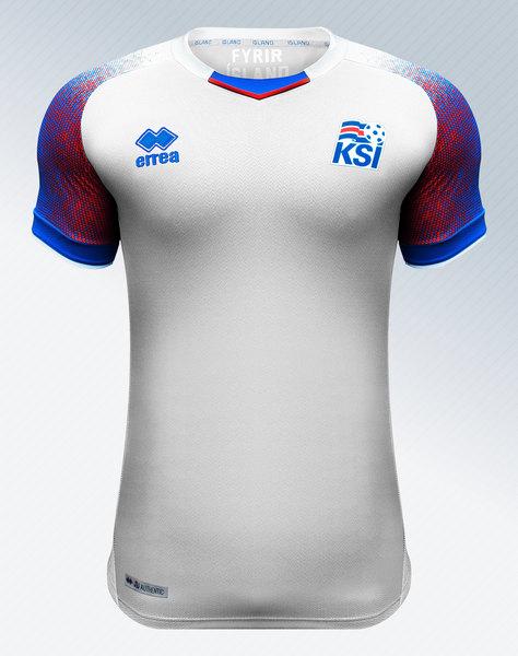 Camiseta suplente de Islandia Mundial 2018 | Imagen Erreà