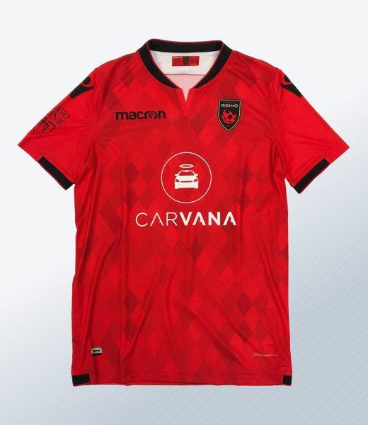 Camiseta titular Macron del Phoenix Rising FC | Imagen Web Oficial