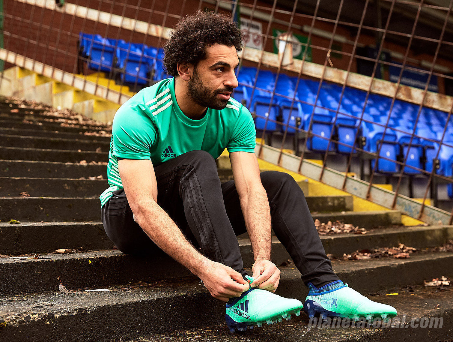 Mohamed Salah con los X17 | Foto Adidas