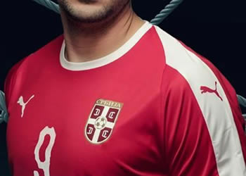 Camiseta titular Puma de Serbia Mundial 2018 | Imagen FSS