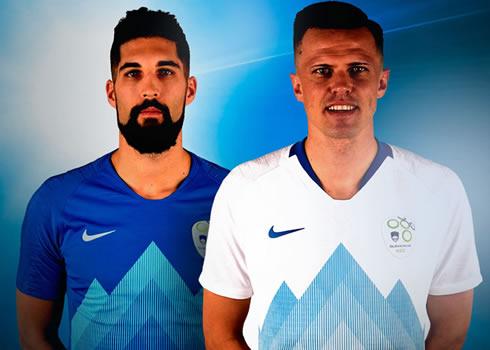 Camisetas Nike de Eslovenia 2018-2019 | Imagen NSZ