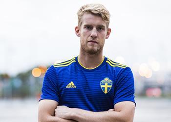 Camiseta suplente de Suecia Mundial 2018 | Foto Adidas