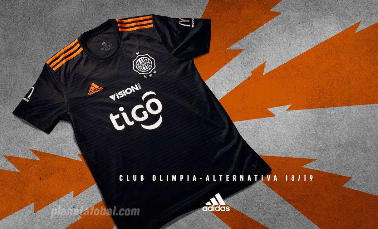 Nueva camiseta alternativa Adidas 2018/19 de Olimpia | Imagen Twitter Oficial