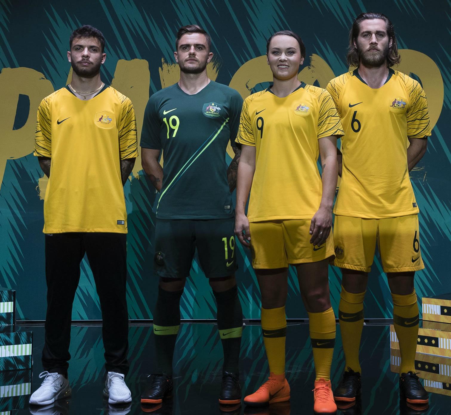 Camisetas Nike de Australia Mundial 2018 | Foto Socceroos