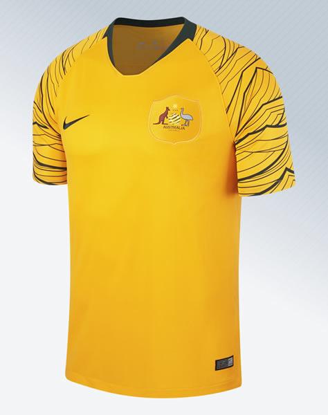 Camiseta titular de Australia Mundial 2018 | Imagen Nike