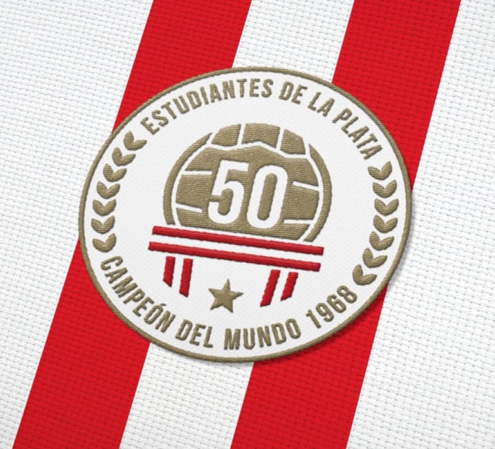 Escudo conmemorativo de Estudiantes LP | Imagen Twitter Oficial