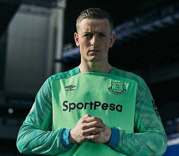 Camiseta de arquero Umbro 2018/19 del Everton FC | Foto Web Oficial