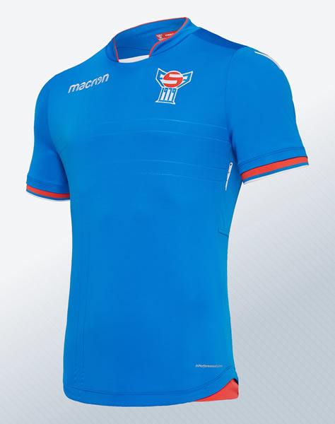 Camiseta suplente de las Islas Feroe 2018/20 | Imagen Macron