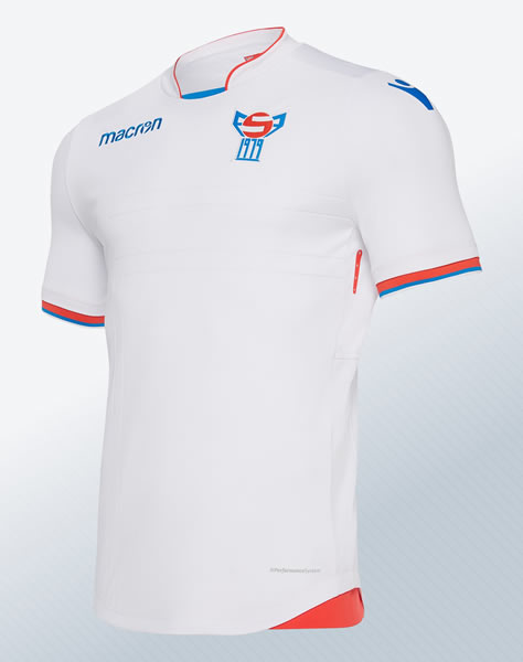 Camiseta titular de las Islas Feroe 2018/20 | Imagen Macron