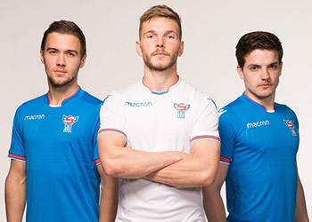 Camisetas de las Islas Feroe 2018/20 | Imagen Macron