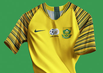Camiseta titular de Sudáfrica 2018/19 | Imagen Nike