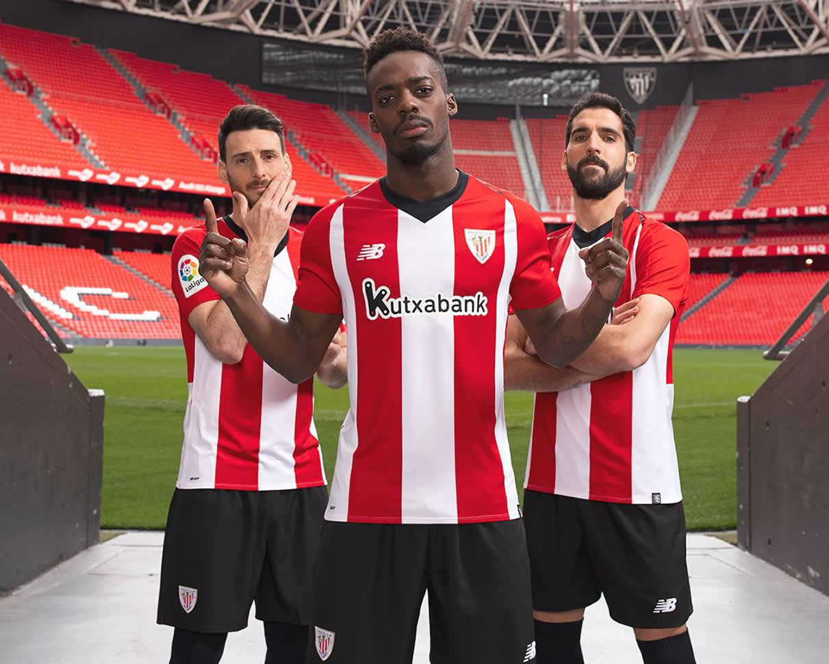 Camiseta titular New Balance del Athletic Bilbao 2018 19 dac800d72e4df