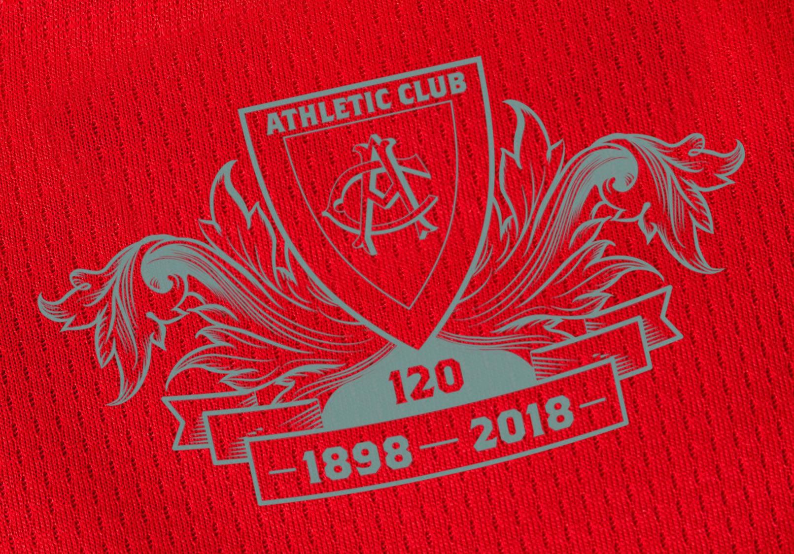 Emblema especial por los 120 años del Athletic Bilbao   Imagen New Balance