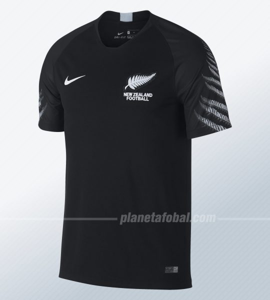 Camiseta suplente 2018/19 de Nueva Zelanda   Foto Nike