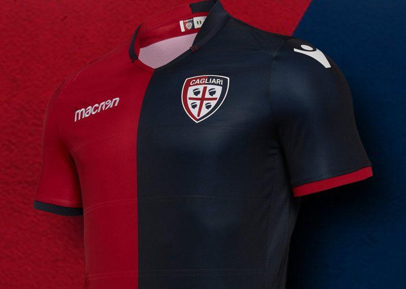 Camiseta titular 2018/19 del Cagliari Calcio   Imagen Macron