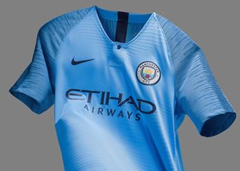 Nueva camiseta titular 2018/19 del Manchester City | Imagen Nike