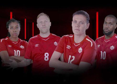 Camiseta titular Umbro de Canadá | Imagen Web Oficial