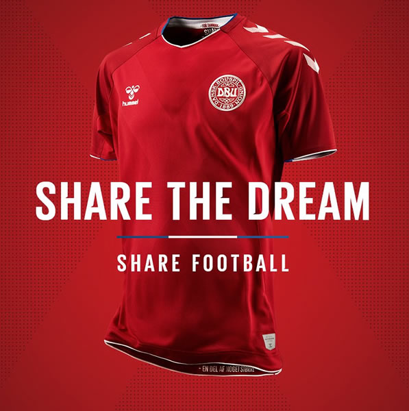 Camiseta titular de Dinamarca Mundial 2018 | Foto Hummel