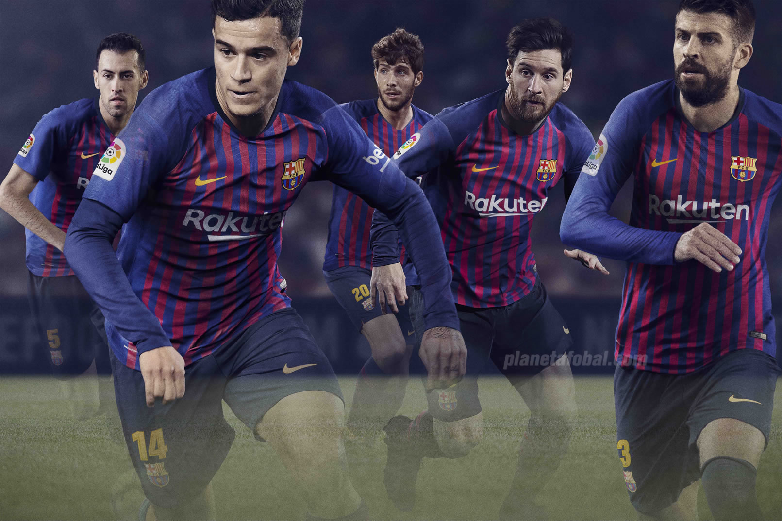 Camiseta titular del FC Barcelona 2018/19 | Imagen Nike