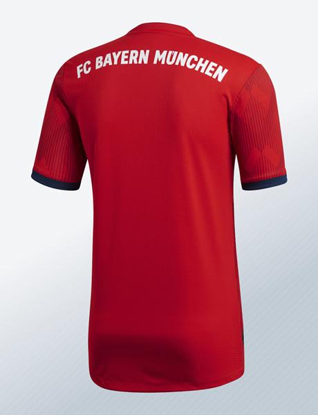 Camiseta titular 2018/19 del FC Bayern | Imagen Adidas