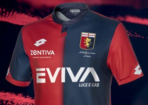Camiseta titular Lotto del Genoa 2018/19   Imagen Web Oficial