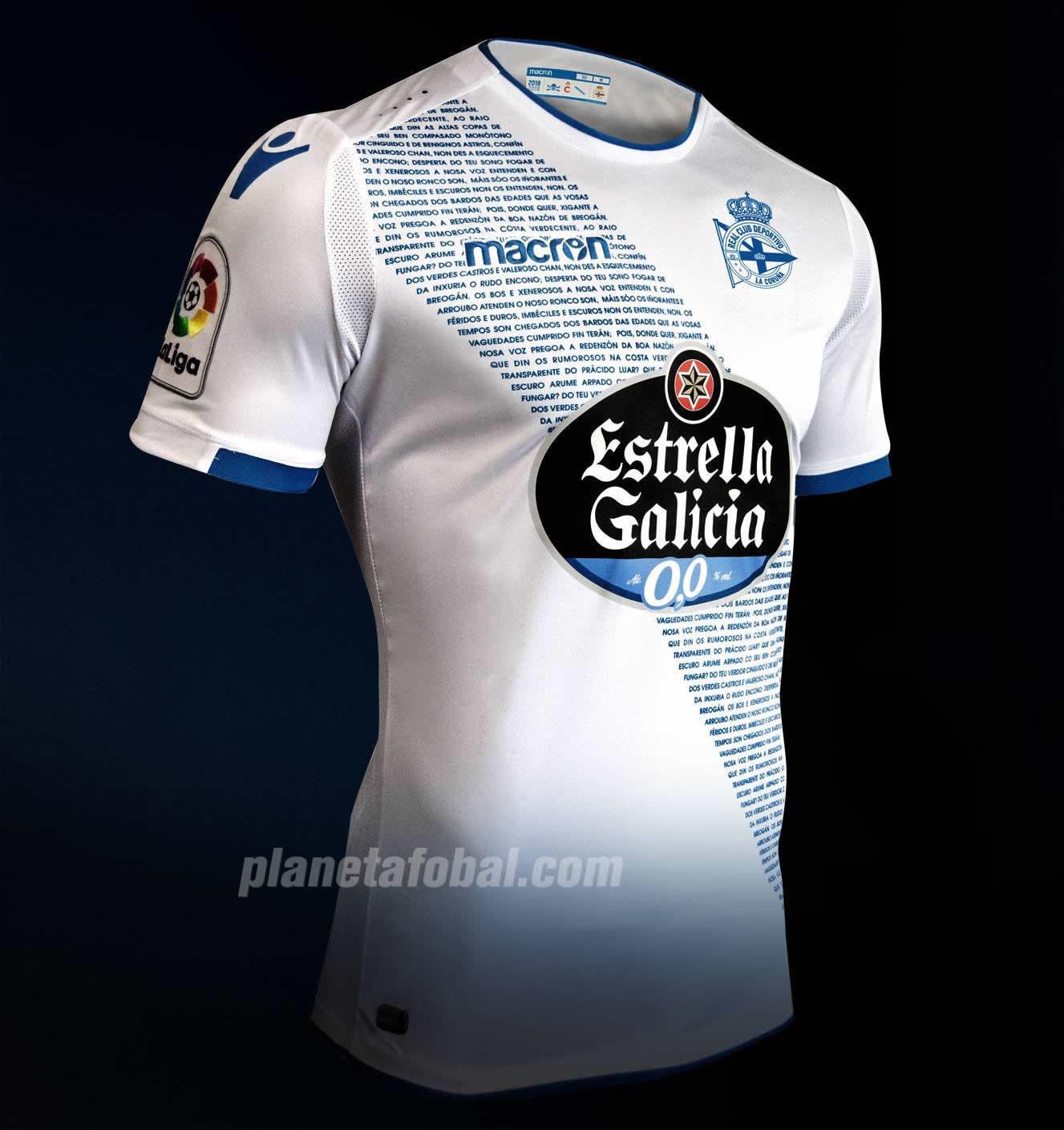 Tercera camiseta Macron 2018/19 del Deportivo La Coruña | Imagen Web Oficial