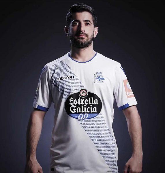 Tercera camiseta Macron 2018/19 del Deportivo La Coruña