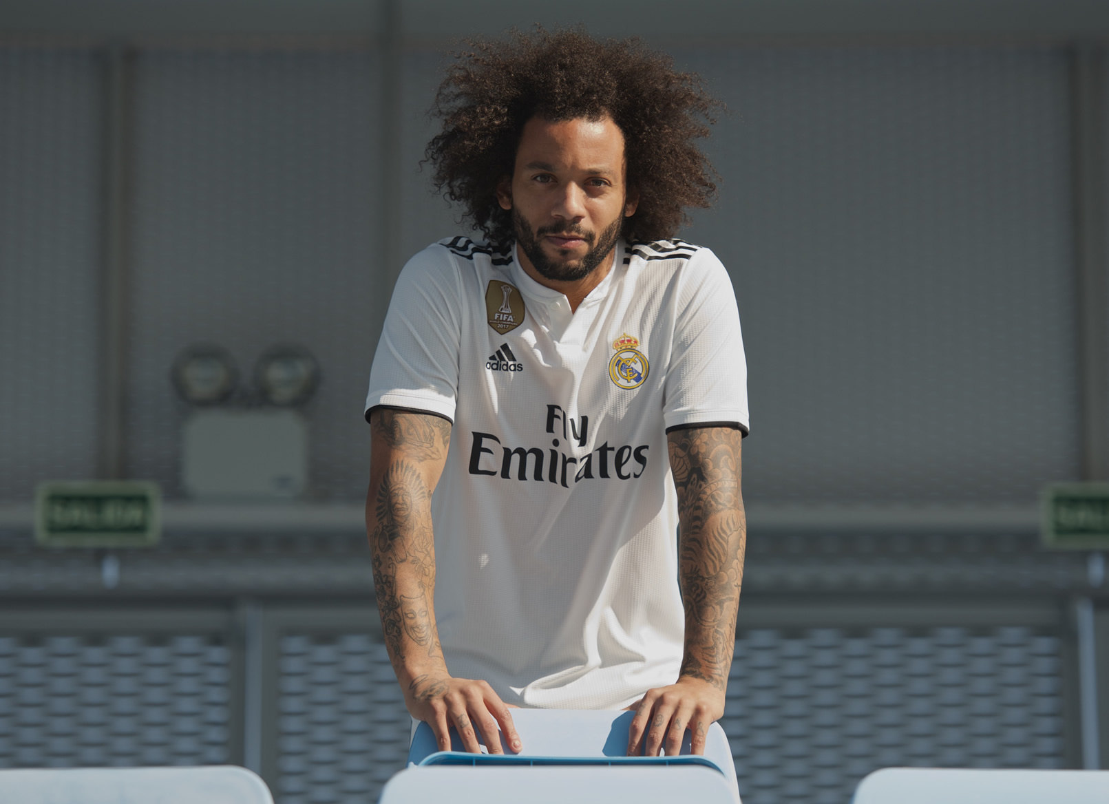 Marcelo con la camiseta titular 2018/19 del Real Madrid | Imagen Adidas