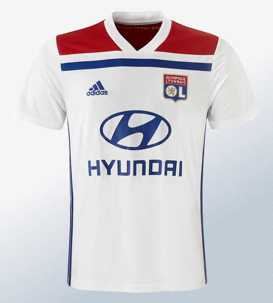 Camiseta titular Adidas 2018/19 del Lyon | Imagen Web Oficial