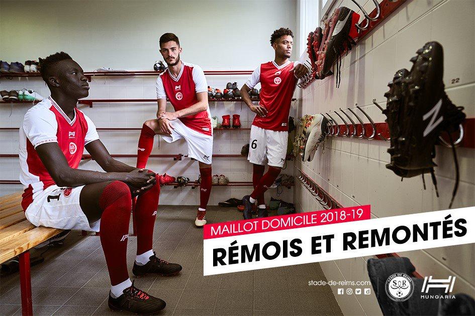Camiseta titular 2018/19 del Stade de Reims | Imagen Web Oficial