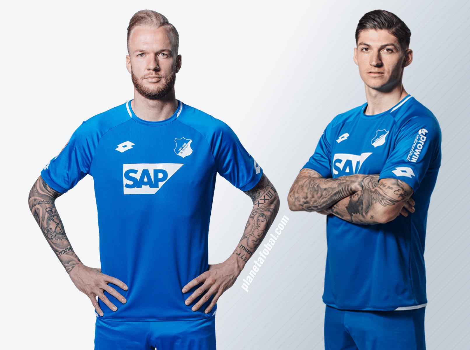 Nueva camiseta titular Lotto 2018/19 del Hoffenheim | Imagen Web Oficial