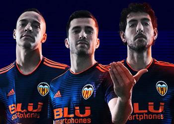 Camiseta suplente Adidas del Valencia 2018/19 | Imagen Web Oficial