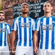 Camiseta titular Umbro del Huddersfield Town 2018/19 | Foto Web Oficial