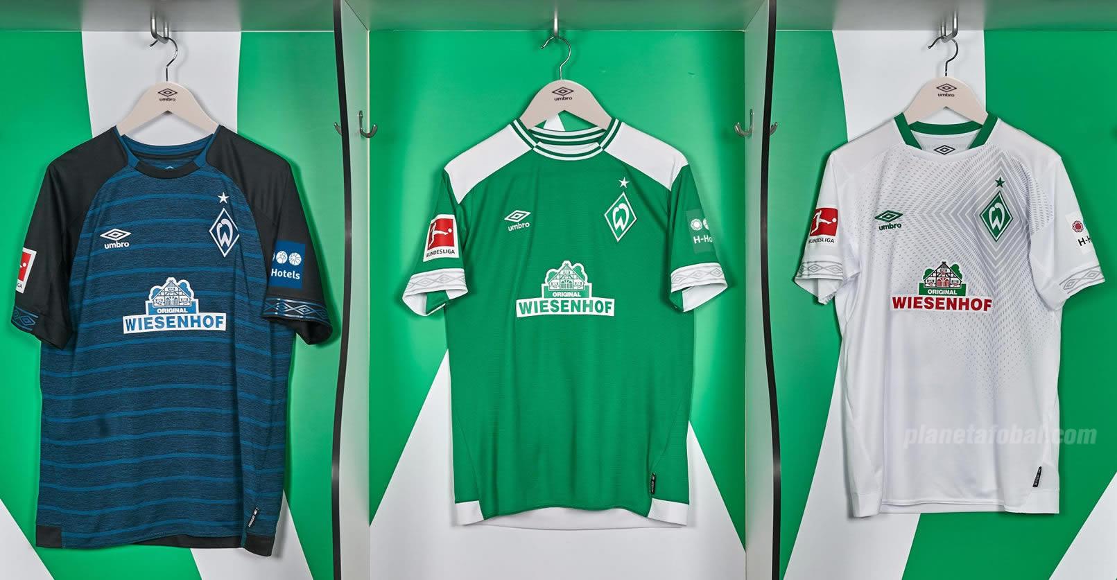 Camisetas Umbro del Werder Bremen 2018/19 | Imagen Web Oficial