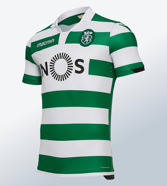Camiseta titular del Sporting de Lisboa | Imagen Macron