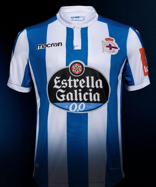Camiseta titular Macron del Deportivo La Coruña | Imagen Twitter Oficial