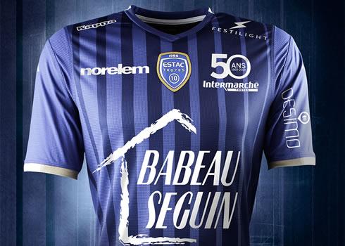 Camiseta titular Kappa del ESTAC Troyes | Imagen Web Oficial