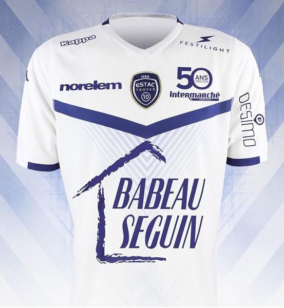 Camiseta suplente Kappa del ESTAC Troyes | Imagen Web Oficial
