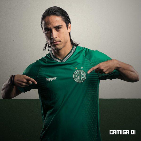 Camiseta titular del Guarani FC | Imagen Topper