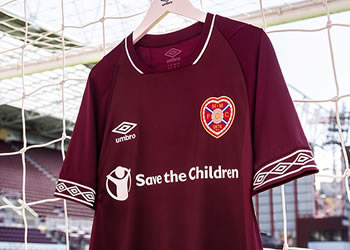 Camiseta titular Umbro del Heart Of Midlothian   Imagen Web Oficial