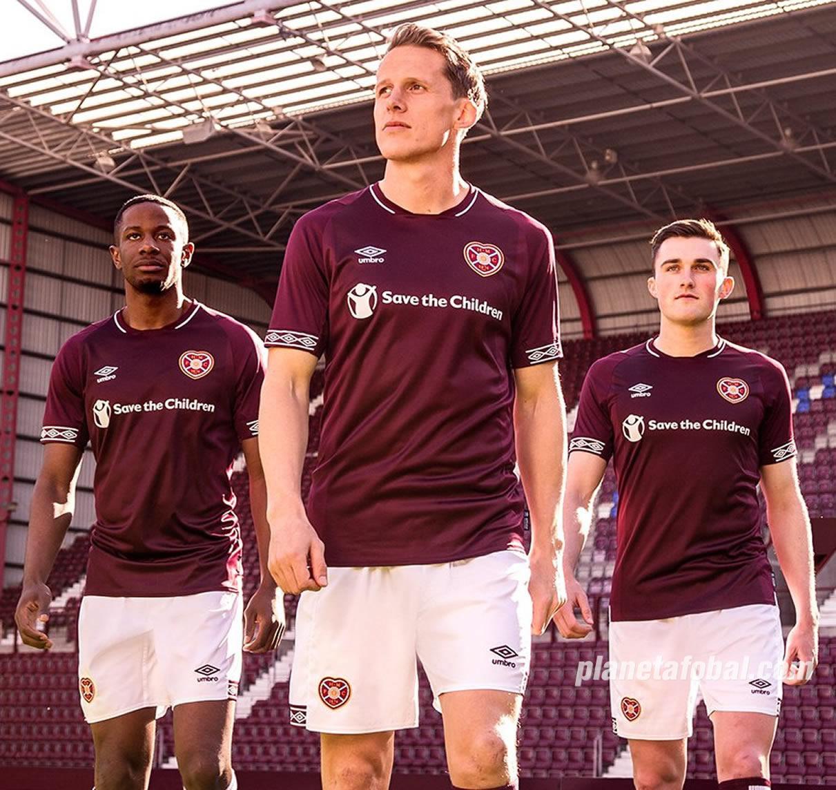 Camiseta titular Umbro del Heart Of Midlothian | Imagen Web Oficial