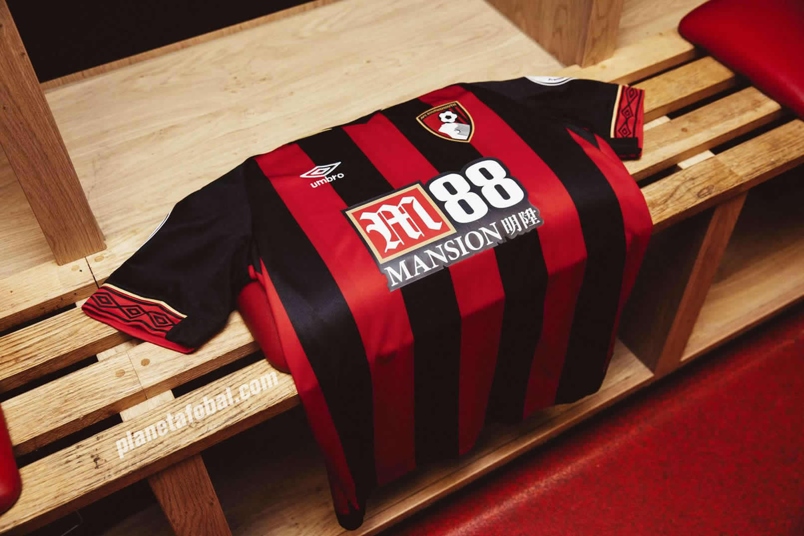 Camiseta titular Umbro del AFC Bournemouth 2018/19 | Imagen Web Oficial