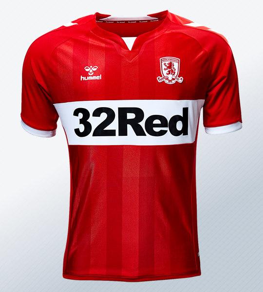 Camiseta titular Hummel 2018/19 del Middlesbrough FC   Foto Web Oficial