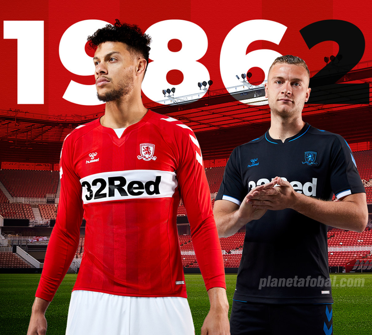 Camisetas Hummel 2018/19 del Middlesbrough FC | Foto Web Oficial
