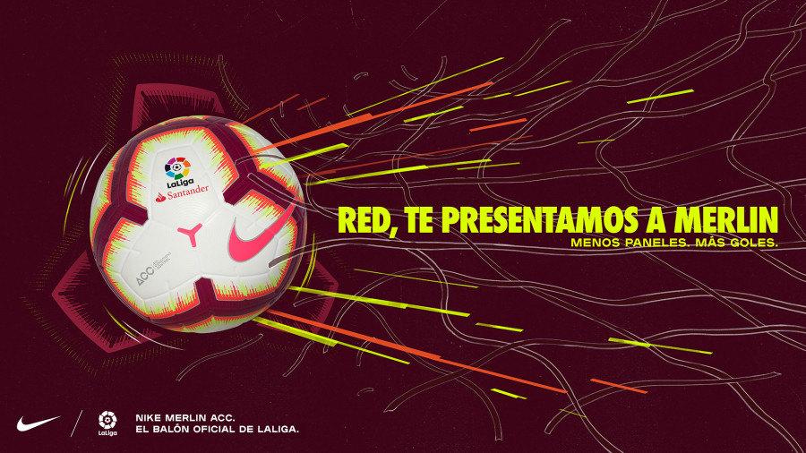 Balón oficial Nike Merlin LaLiga 2018/19 | Imagen Web Oficail
